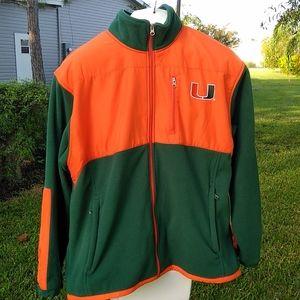 University of Miami Full Zip Fleece by GS
